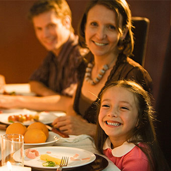 Детское меню ресторана на выходных