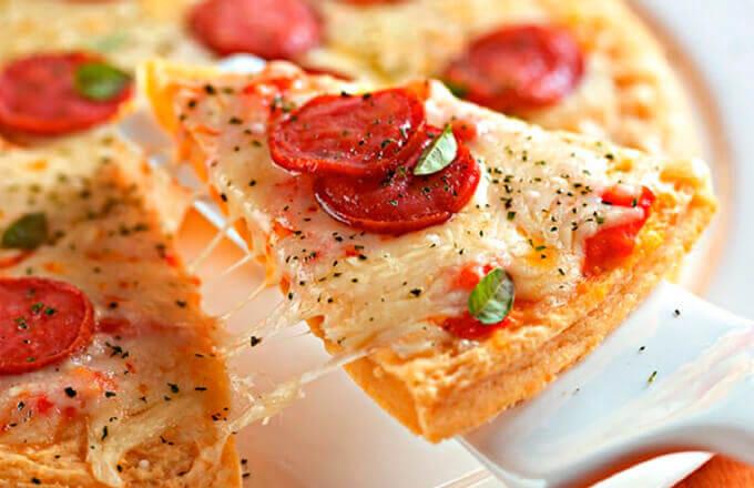 Пицца с картофельной начинкой