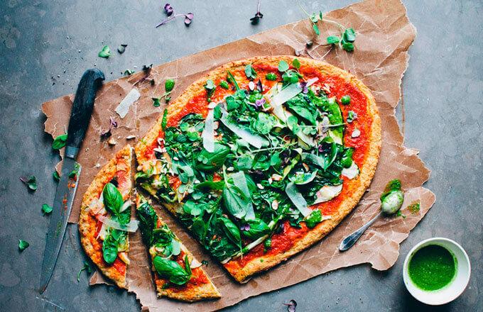Пицца вегетарианская с рисом